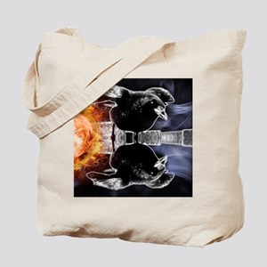 haunted flames gothic crow Tote Bag