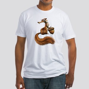 Ice Age Squirrel Fitted T-Shirt