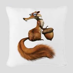 Ice Age Squirrel Woven Throw Pillow