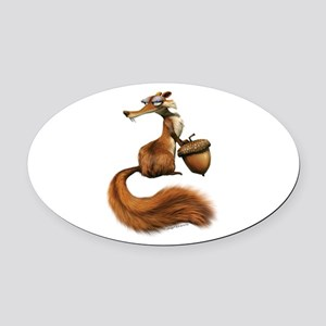 Ice Age Squirrel Oval Car Magnet