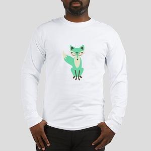Hipster Fox Long Sleeve T-Shirt