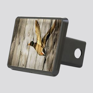 rustic western wood duck Rectangular Hitch Cover