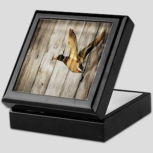 rustic western wood duck Keepsake Box