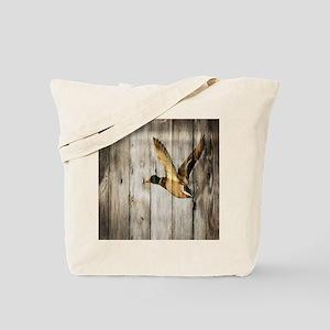 rustic western wood duck Tote Bag
