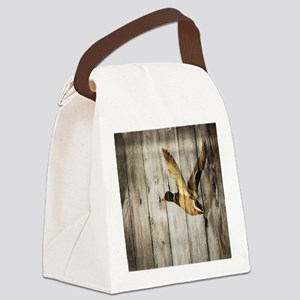 rustic western wood duck Canvas Lunch Bag
