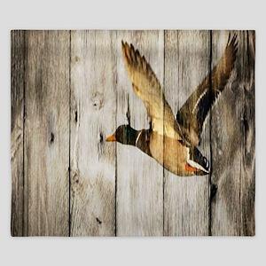 rustic western wood duck King Duvet