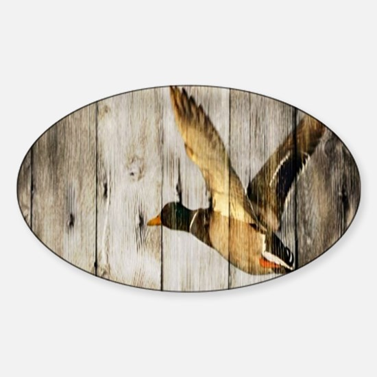 rustic western wood duck Decal