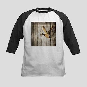 rustic western wood duck Baseball Jersey