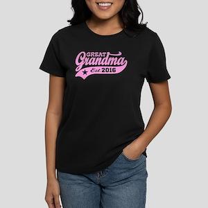 Great Grandma Est. 2016 Women's Dark T-Shirt