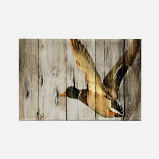 rustic western wood duck Magnets