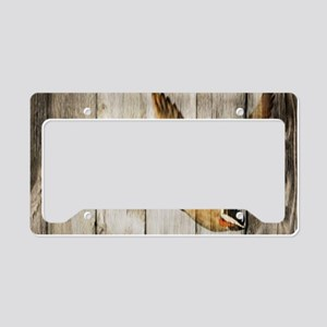 rustic western wood duck License Plate Holder