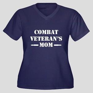 Combat Veter Women's Plus Size V-Neck Dark T-Shirt