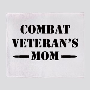 Combat Veteran's Mom Throw Blanket
