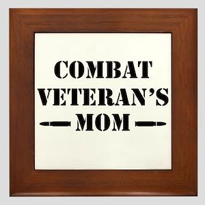 Combat Veteran's Mom Framed Tile