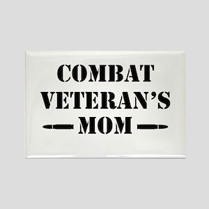 Combat Veteran's Mom Rectangle Magnet