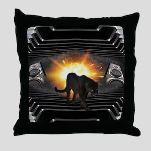 electric keyboard black panther Throw Pillow