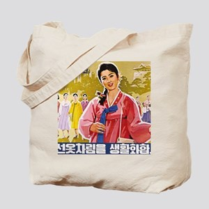 Korean Ladies Wearing Hanbok Tote Bag
