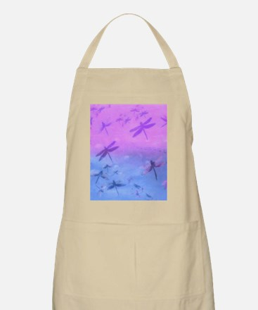 Bold Purple Dragonflies Apron