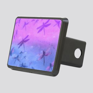 Bold Purple Dragonflies Rectangular Hitch Cover