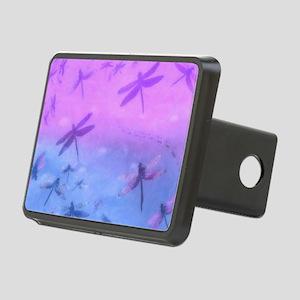 Bold Purple Dragonflies Rectangular Hitch Cover