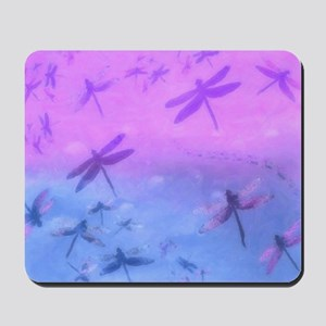 Bold Purple Dragonflies Mousepad