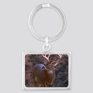 camouflage western country deer Landscape Keychain