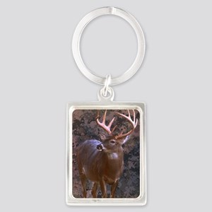 camouflage western country deer Portrait Keychain