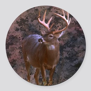 camouflage western country deer Round Car Magnet