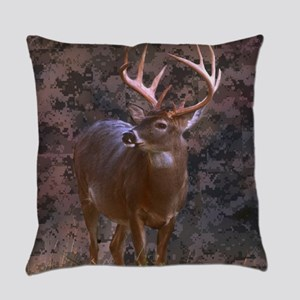 camouflage western country deer Everyday Pillow