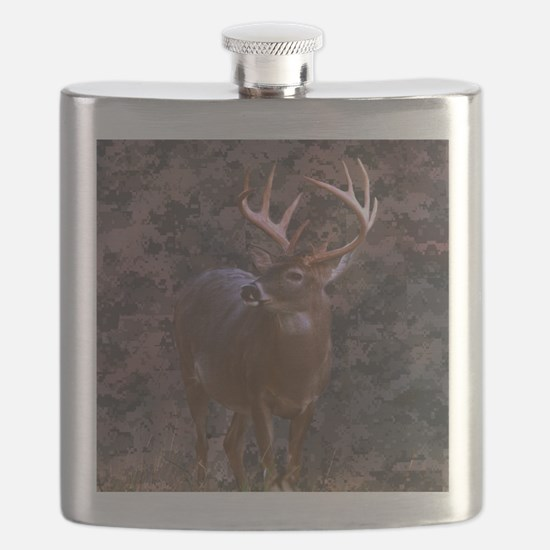 camouflage western country deer Flask