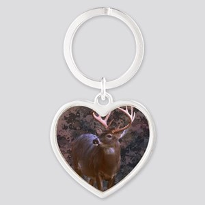 camouflage western country deer Heart Keychain
