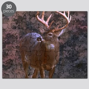 camouflage western country deer Puzzle ce5c95bf04ef