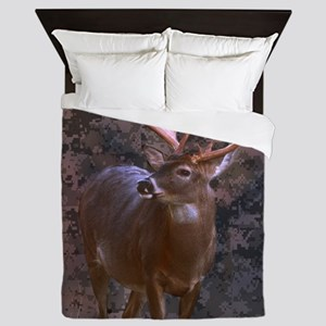 camouflage western country deer Queen Duvet
