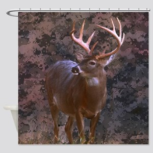 camouflage western country deer Shower Curtain