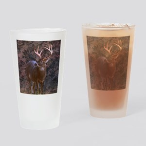 camouflage western country deer Drinking Glass