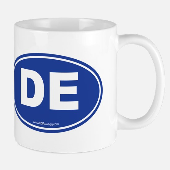 Delaware DE Euro Oval Mug
