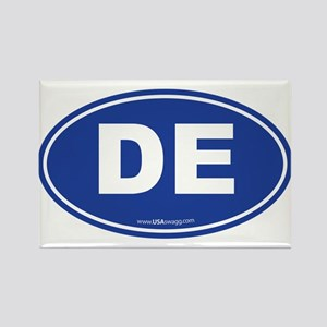 Delaware DE Euro Oval Rectangle Magnet
