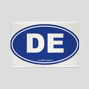 Delaware DE Euro Oval Rectangle Magnet