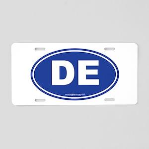 Delaware DE Euro Oval Aluminum License Plate