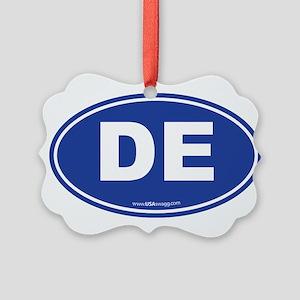 Delaware DE Euro Oval Picture Ornament