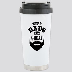 Bearded Dad Stainless Steel Travel Mug
