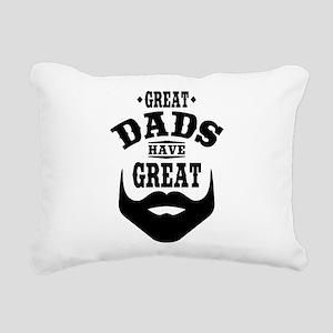 Bearded Dad Rectangular Canvas Pillow