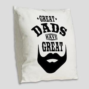 Bearded Dad Burlap Throw Pillow