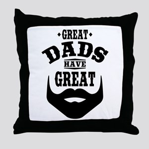 Bearded Dad Throw Pillow