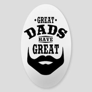 Bearded Dad Sticker (Oval)