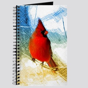 watercolor winter red cardinal Journal