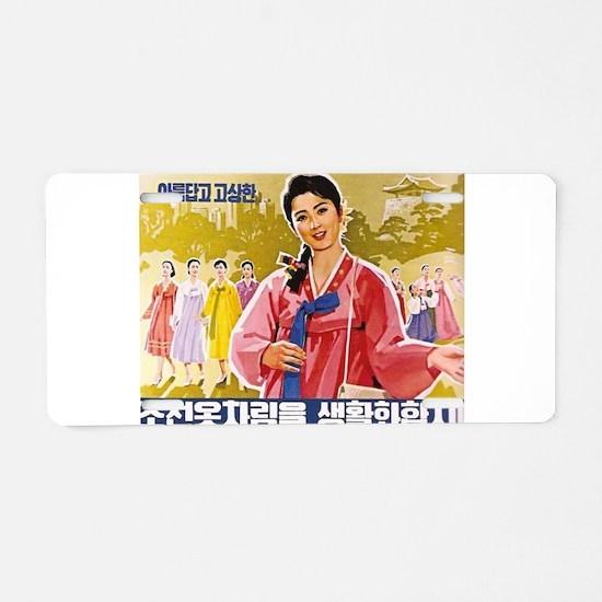 Korean Ladies Wearing Hanbo Aluminum License Plate