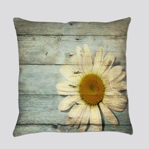 shabby chic country daisy Everyday Pillow