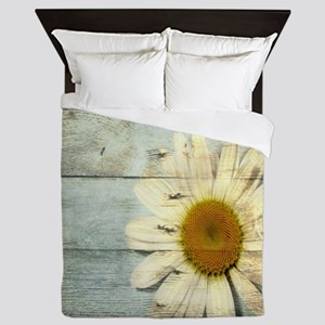shabby chic country daisy Queen Duvet