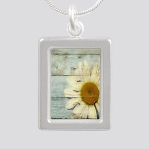 shabby chic country dais Silver Portrait Necklace